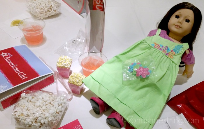 AG Doll with popcorn