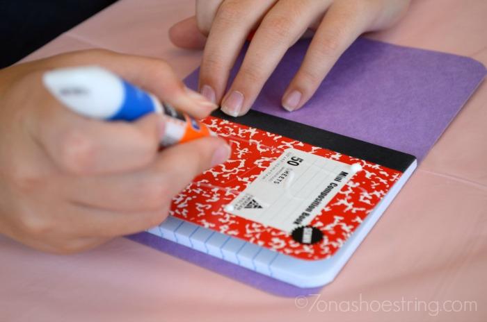 Book of Boo Boos craft glue step