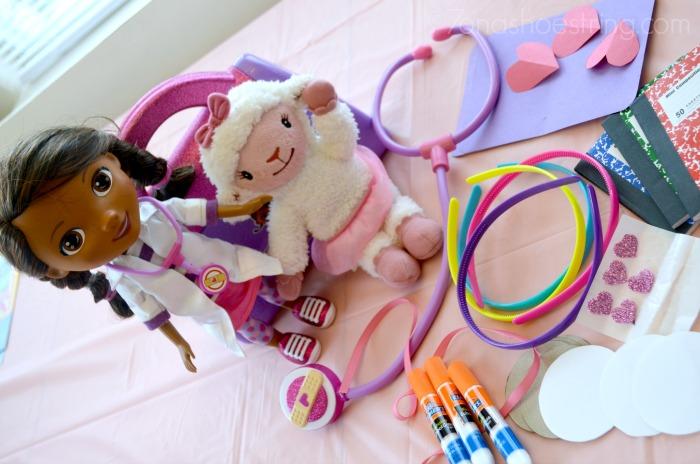 Doc McStuffins party crafts