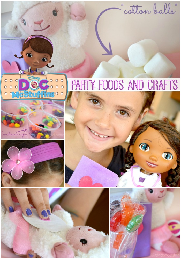 Doc McStuffins party foods and crafts