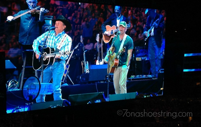 Kenny Chesney and George Strait