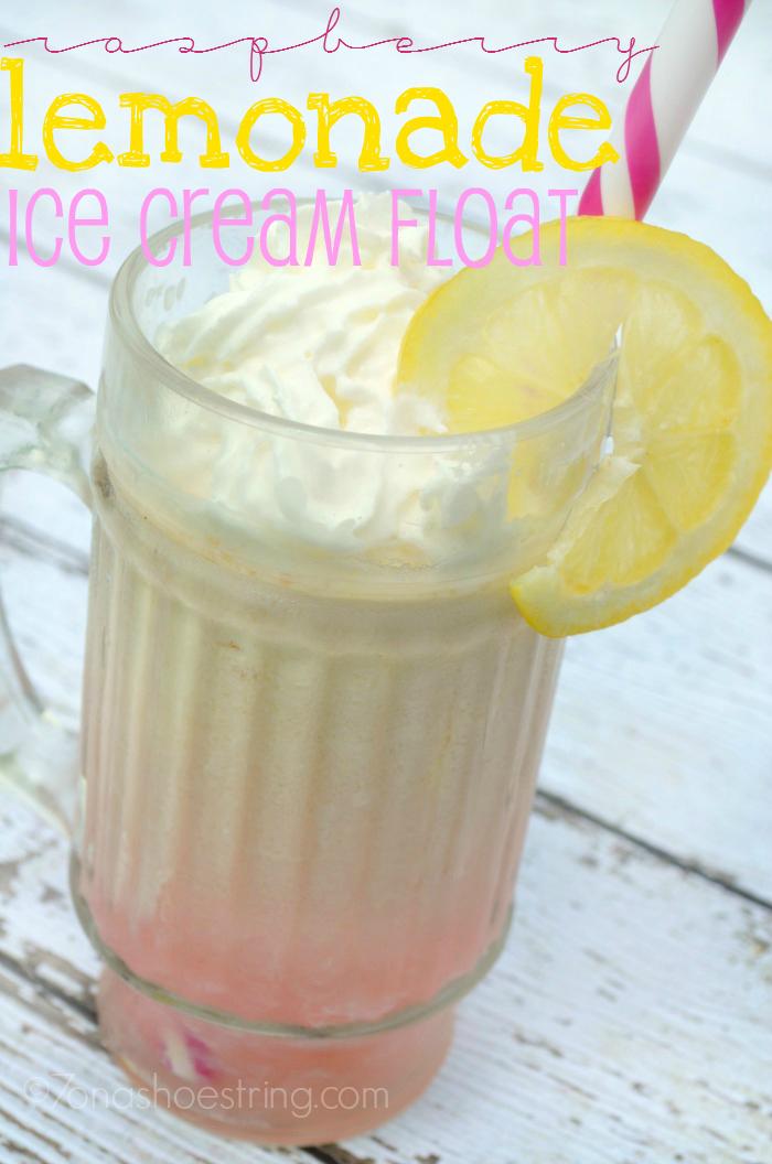 Raspberry Lemonade Ice Cream Float