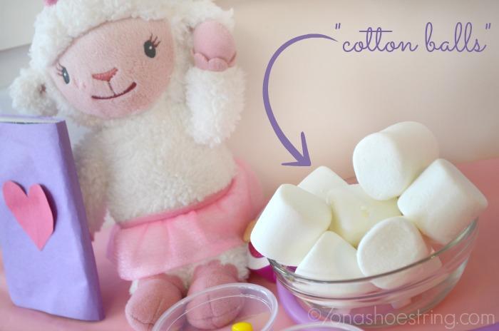 marshmallow cotton balls