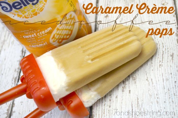 Caramel Crème Iced Coffee Pops: International Delight
