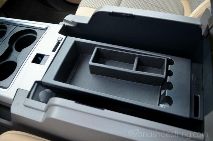 F250 storage compartment