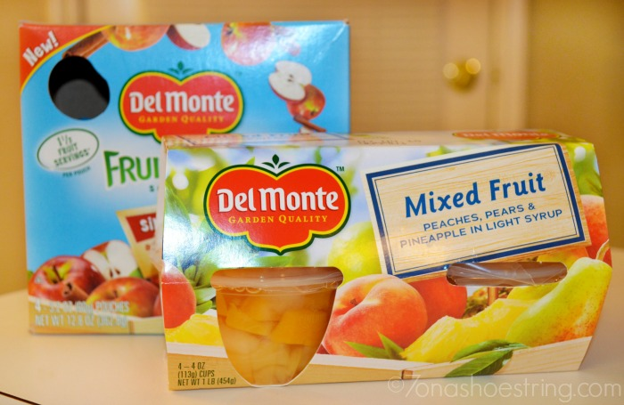 Fill Back to School Lunchboxes with Del Monte
