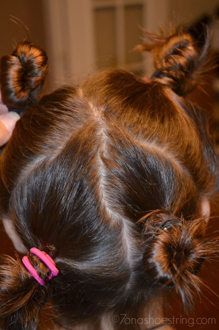 Twist Curls for Back to School with Johnson's No More Tangles