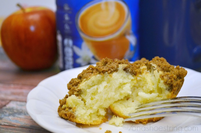 Crumb Coffee Cake Paired With International Delight Coffee Creamer