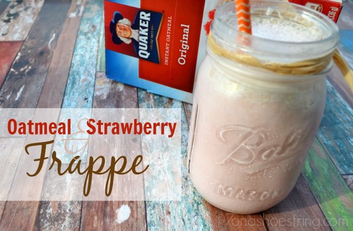 Oatmeal and Strawberry Frappe