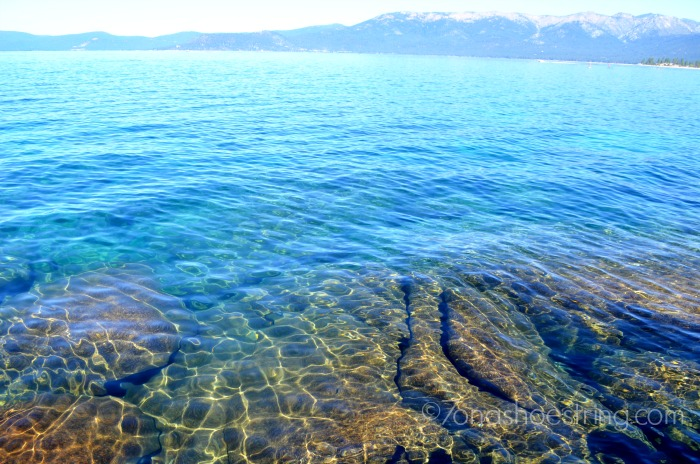 clear water of Lake Tahoe