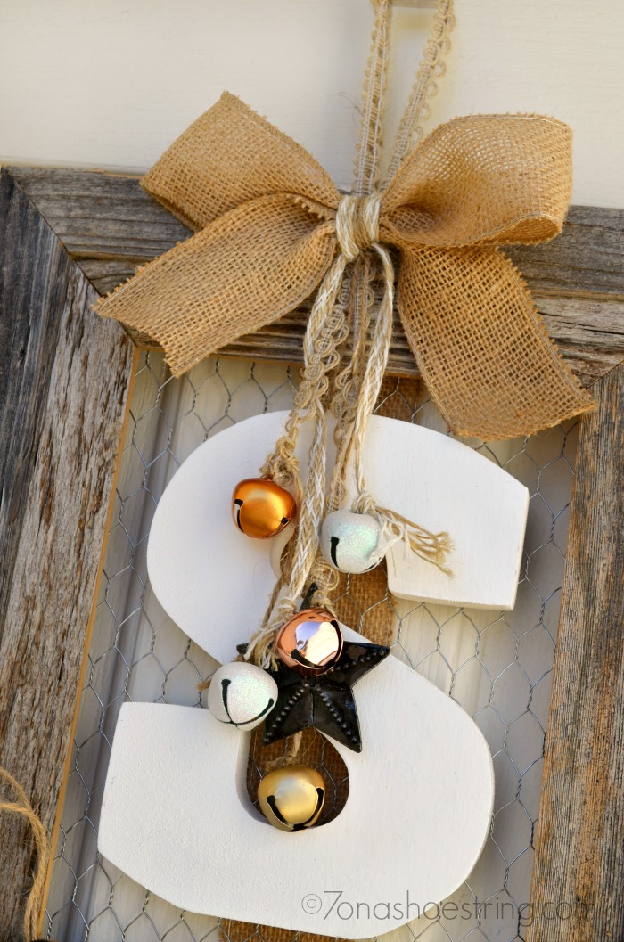 DIY Wood Frame Wreath for Door