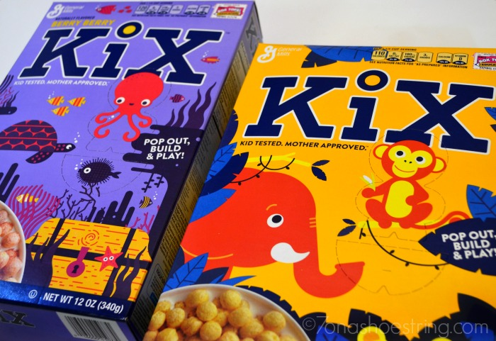 Kix cereal story box at Target