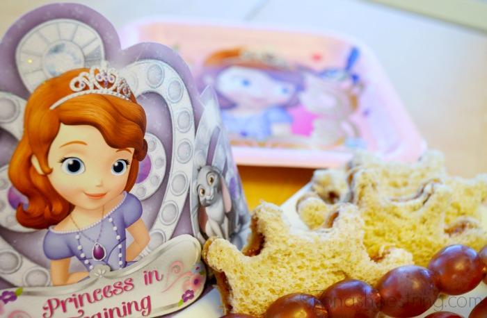 Princess Sofia tiara sandwiches