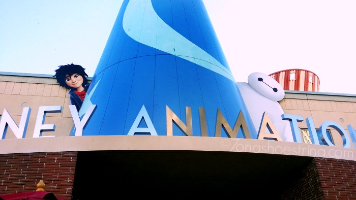 Baymax and Hiro at Disney Animation Studios