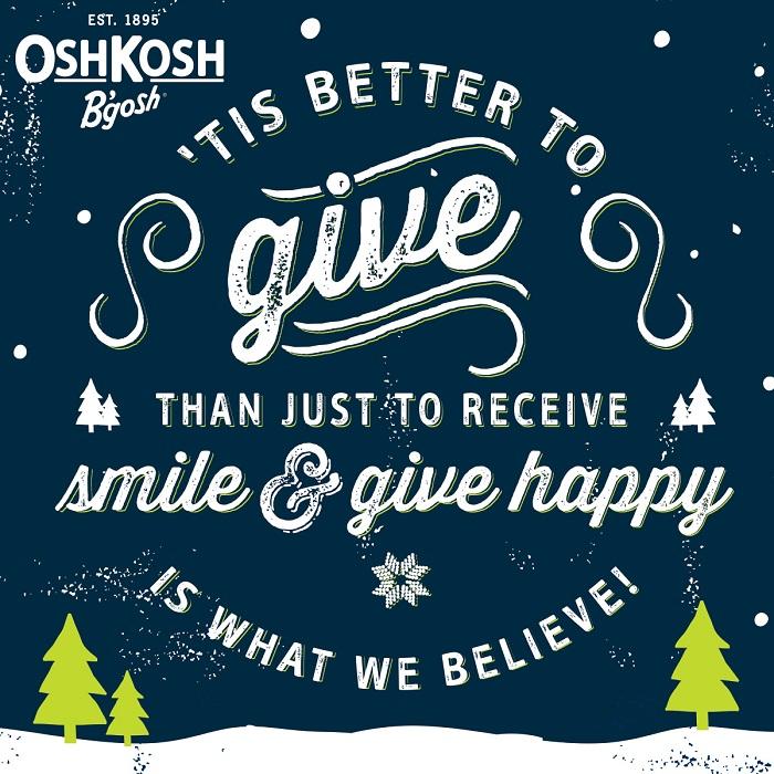 Better to Give OshKosh B'gosh
