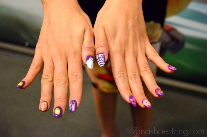 Honey Lemon nail polish art