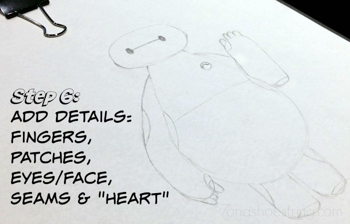 How to Draw Baymax details