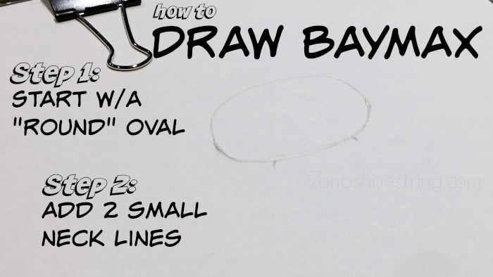 How to draw Baymax step 1 and 2