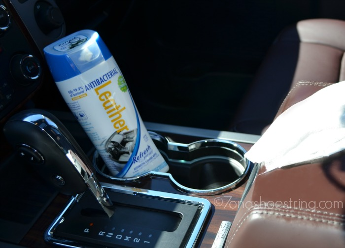 Leather antibacterial wipes for cars