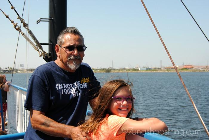 Papaw on ferry in Gulf