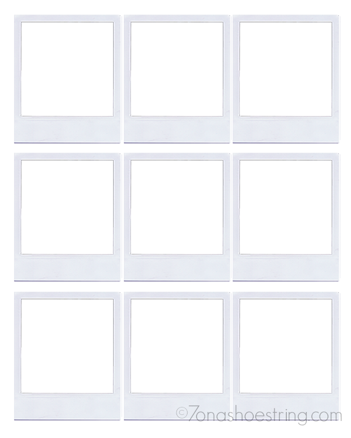 Polaroid photo template polaroid frame backgroundsy com the 25 polaroid frame magnets craft pronofoot35fo Gallery