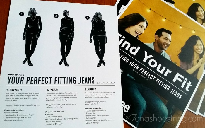 Lee perfect fitting jeans guide