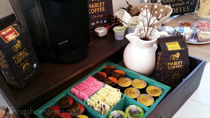 coffee sampling party with Marley Coffee