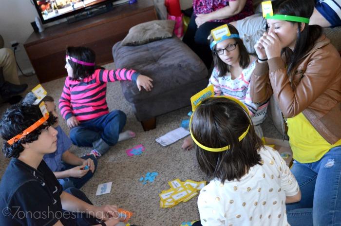 cousins bonding over board games