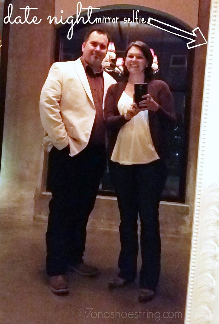 date night mirror selfie
