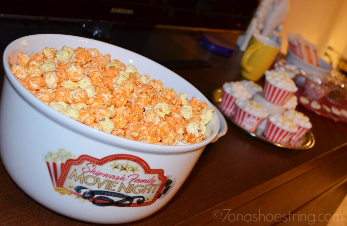 personalized movie popcorn bowl