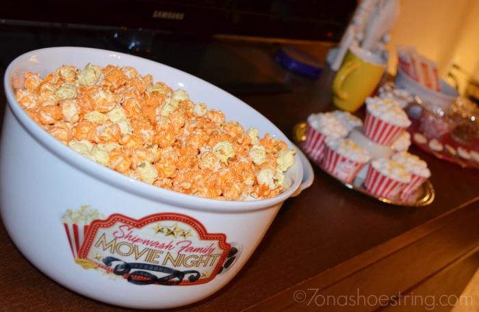 personalized movie popcorn bowl