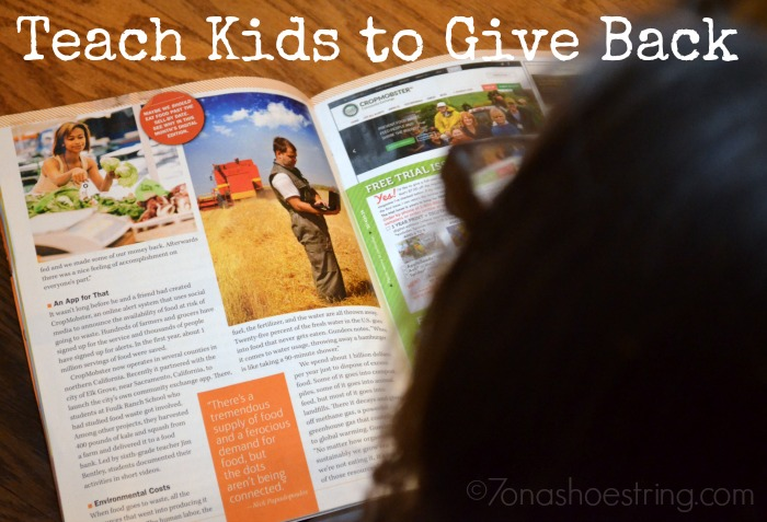 teach kids to give back with Odyssey Magazine