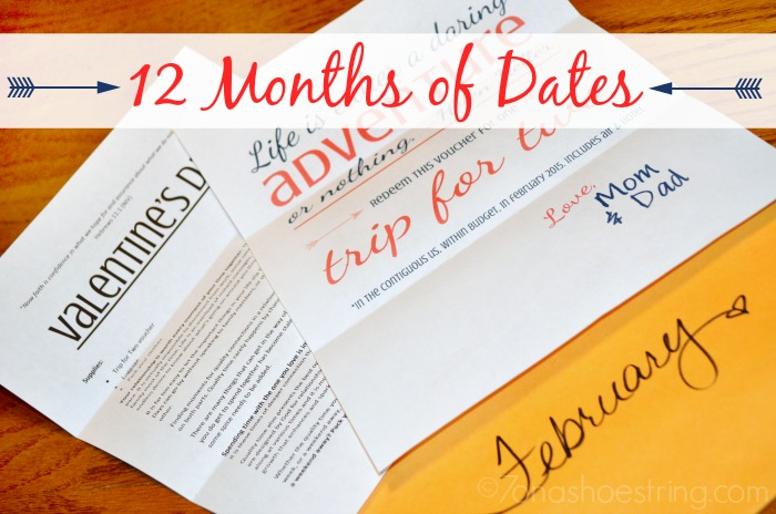 12 months of dates