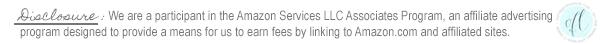 Disclosure Amazon affiliate
