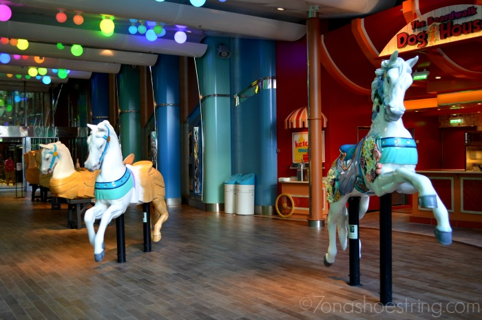 Carousel horses at sea