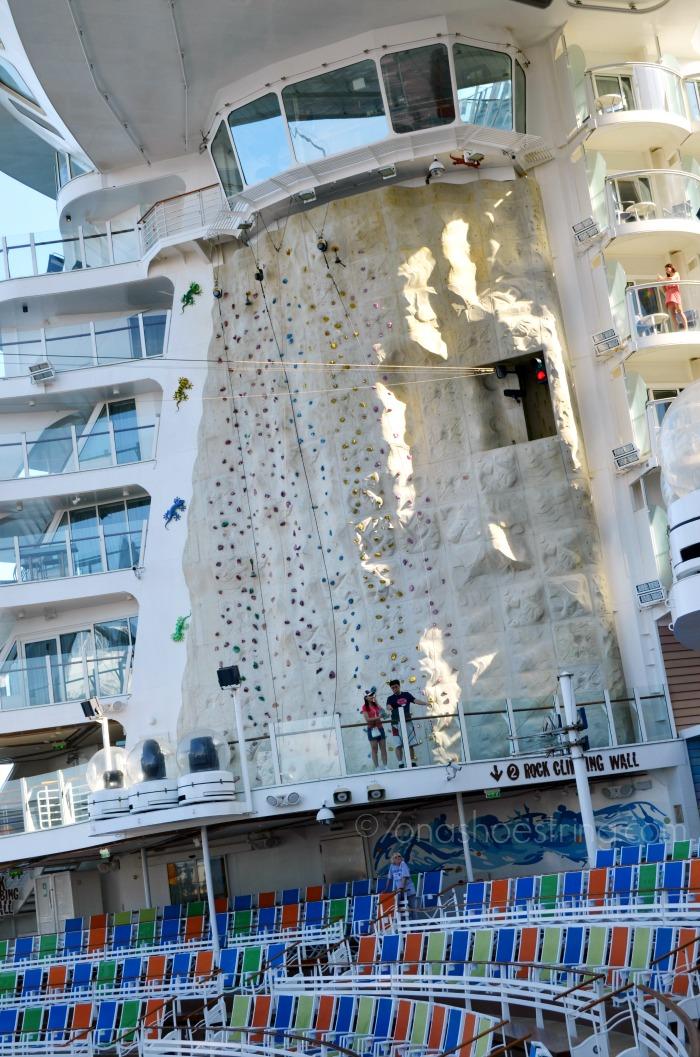 Rock Climbing Wall - Royal Caribbean