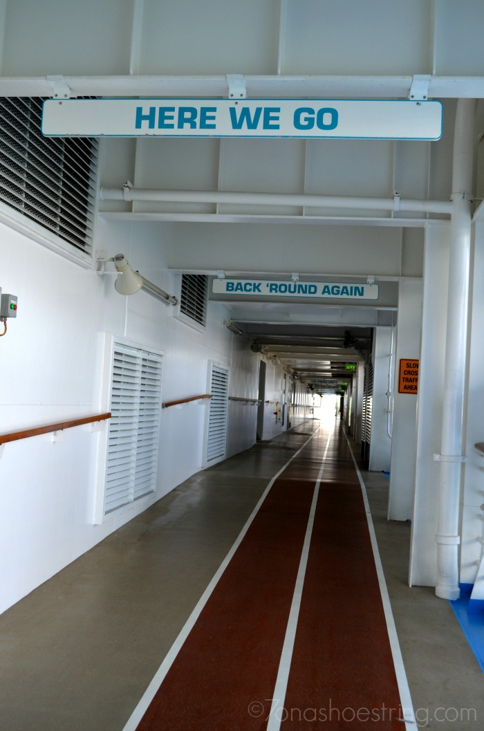 Running track aboard Oasis of the Seas