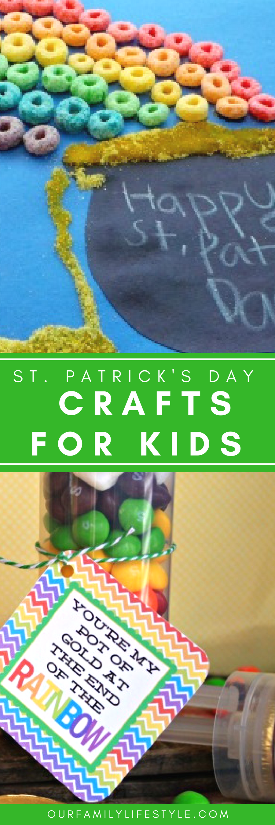 I see shamrocks, four leaf clover, leprechauns, rainbows and pots of gold in our future with this fun list of easy St. Patrick's Day Crafts for Kids!