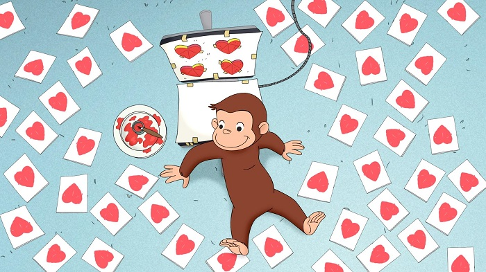 Curious George Valentine's Day