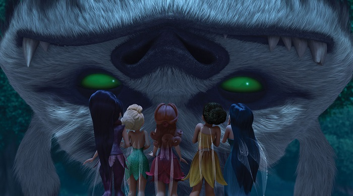 NeverBeast Gruff upside down and Disney Fairies
