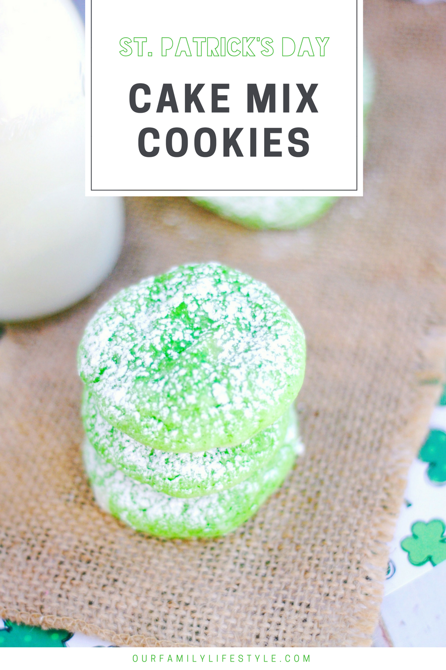 St. Patrick's Day Cake Mix Cookies
