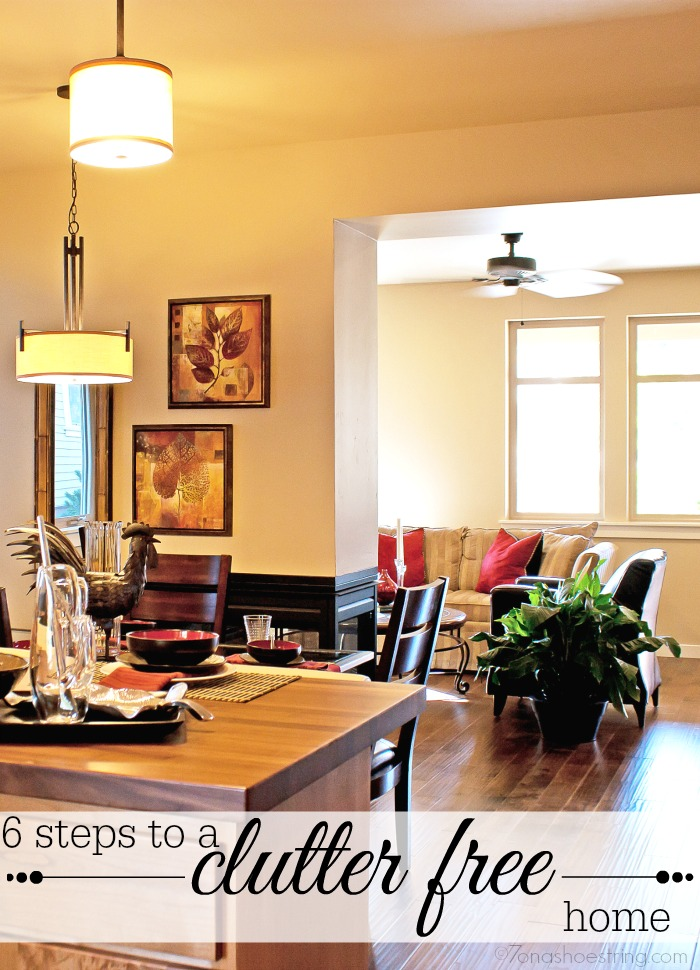 6 steps to a clutter free home