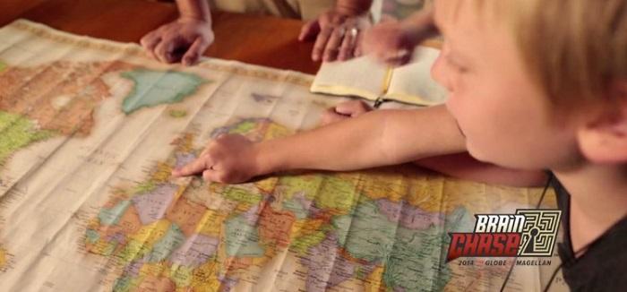 Brain Chase map to treasure