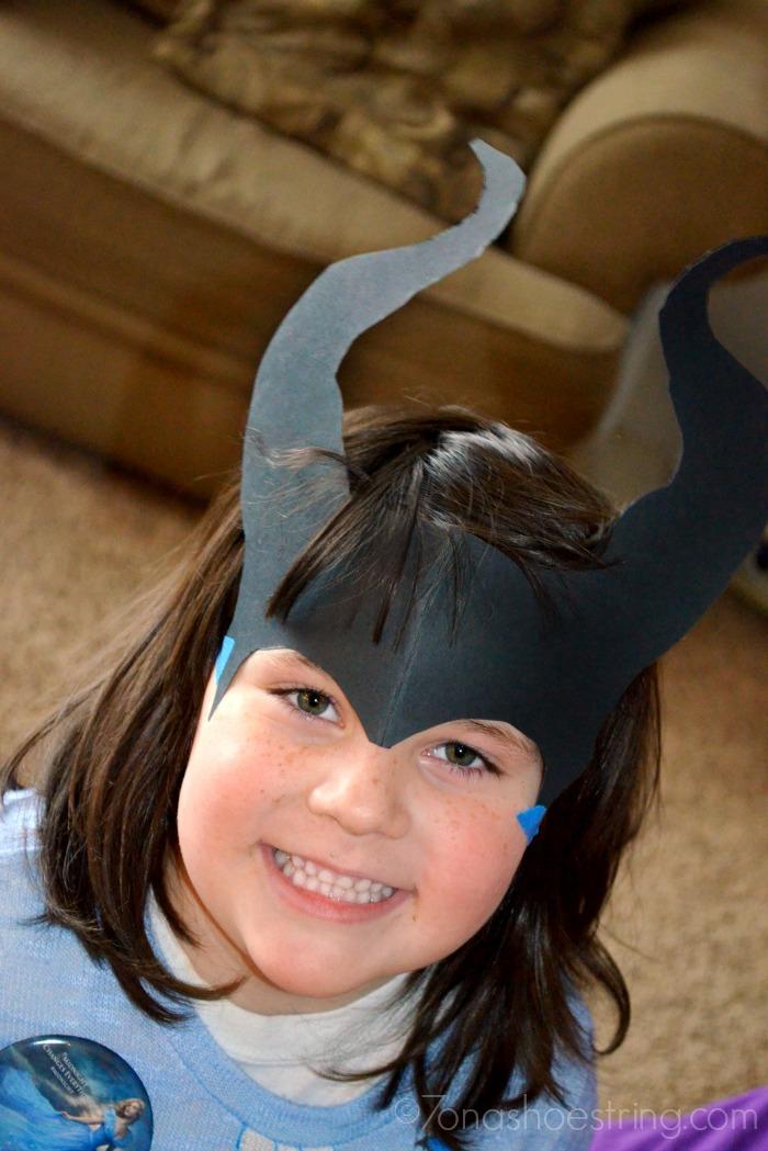 Maleficent paper horns