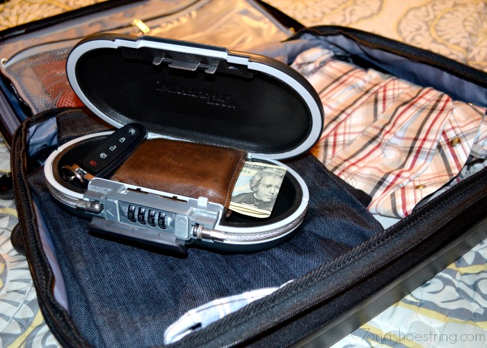 Travel Safety Tips Include Using Master Lock SafeSpace Portable Personal Safe