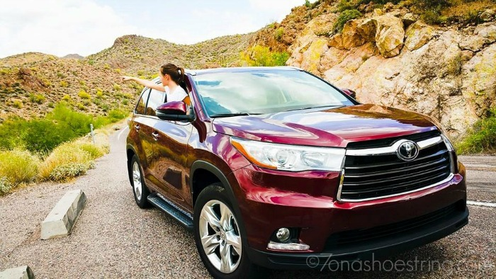 2015 Toyota Highlander road trip