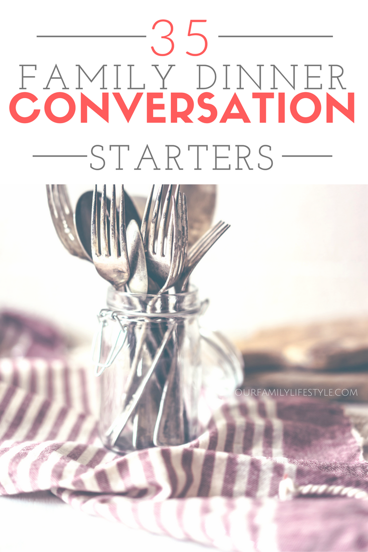 What are some of your favorite family conversation starters? Kick start dinner conversations with these ideas.