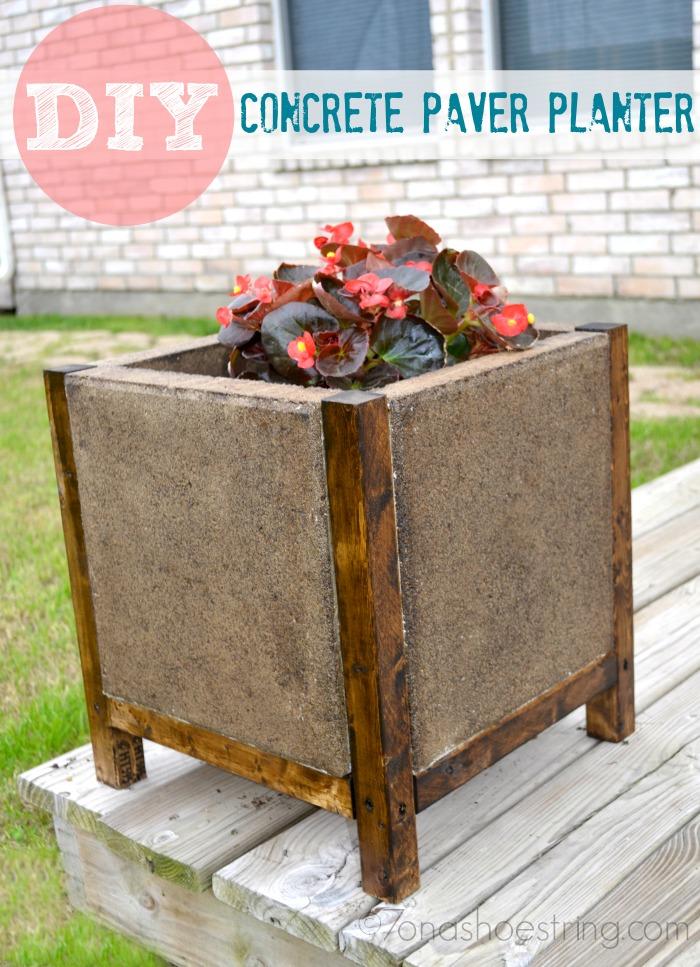 DIY Concrete Paver Planter