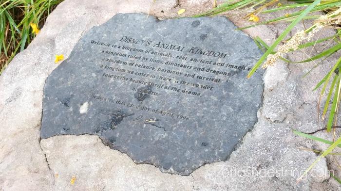 Disney's Animal Kingdom stone