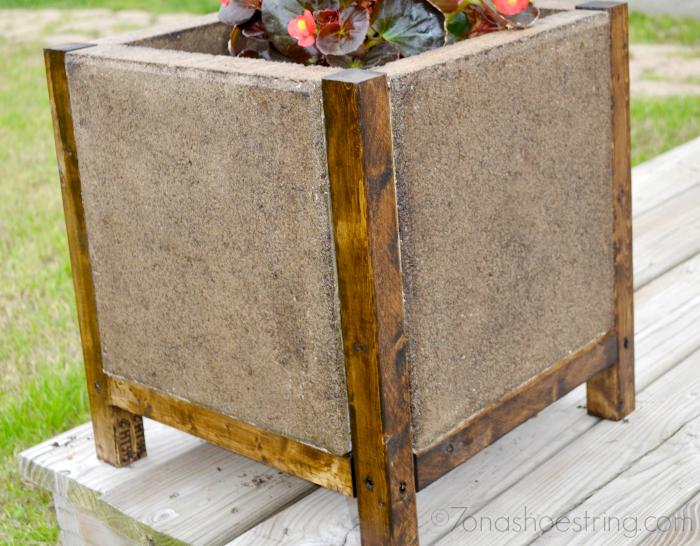Easy DIY Concrete Paver Planter The Home Depot